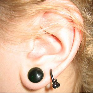 00g  solid color SINGLE flare plug - green -- Photo # 2410