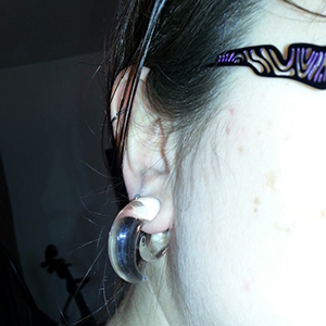 00g/10mm  Crystal (pair) -- Photo # 51496