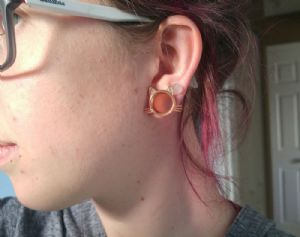 """9/16""""  Rose gold colored (pair) -- Photo # 82015"""