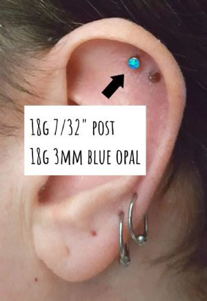 18g  3mm - Blue opal -- Photo # 82809