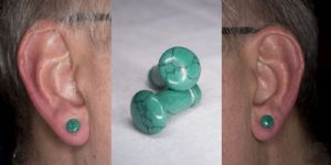 4g  Spiderweb Synthetic Turquoise (pair) -- Photo # 83335