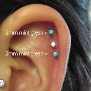 16g  2mm Mint green CZ -- Photo # 77413
