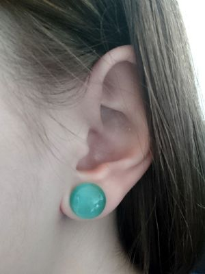 00g/10mm  Aqua cat eye -- Photo # 83574