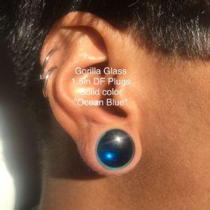 """1/2""""  Ocean blue (pair) -- Photo # 80345"""