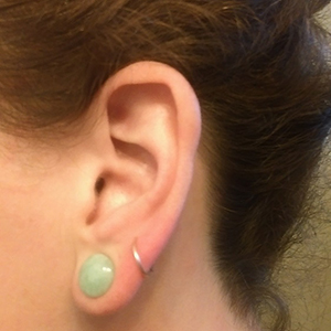 00g/9.5mm  Amazonite (pair) -- Photo # 73708