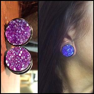 "5/8""  Purple druzy -- Photo # 71315"