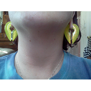 """3/4""""  Green Gold - Large (pair) -- Photo # 65625"""
