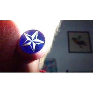 "5/8""  Blue with white star -- Photo # 62506"