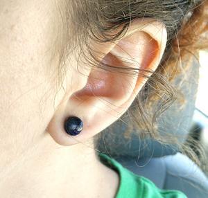 4g  Blue Goldstone (pair) -- Photo # 77945