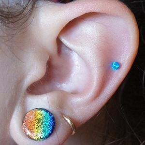14g/12g  3mm Blue opal -- Photo # 71183