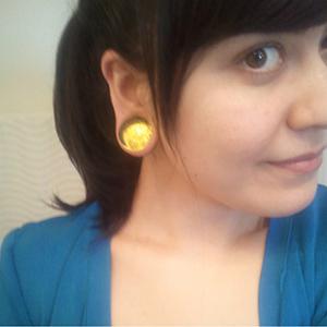 """1""""  Yellow (pair) -- Photo # 31449"""