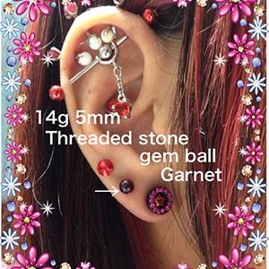 14g  5mm Garnet -- Photo # 65702
