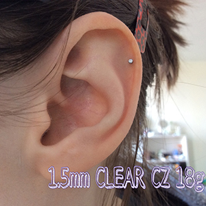 18g  1.5mm Clear CZ -- Photo # 66027