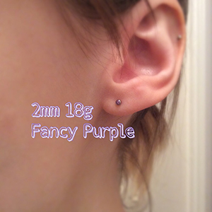 18g  2mm Fancy purple -- Photo # 69513