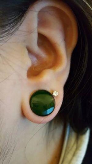 """1/2""""  Emerald (pair) -- Photo # 78352"""